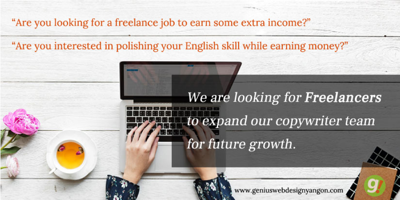 Freelance copywriter @Genius Web Design Myanmar