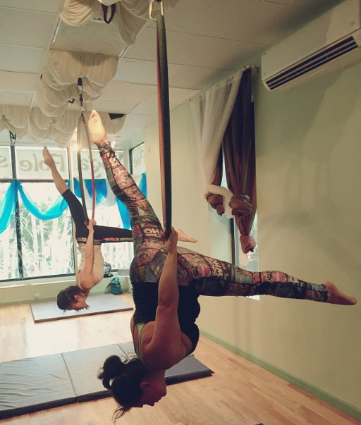 Aerial Hoope Lyra is another fun and challenging class open to all levels.