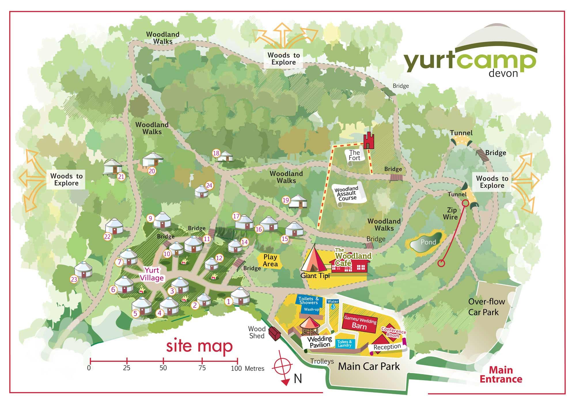 Yurtcamp Map