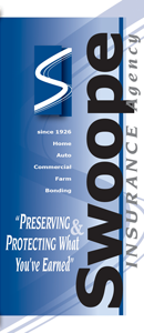 created Preserving and Protecting What You've Earned brochure for The Swoope Insurance Agency of Columbus Mississippi