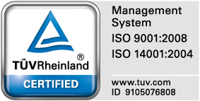 Certified ISO 9001 and ISO 14001