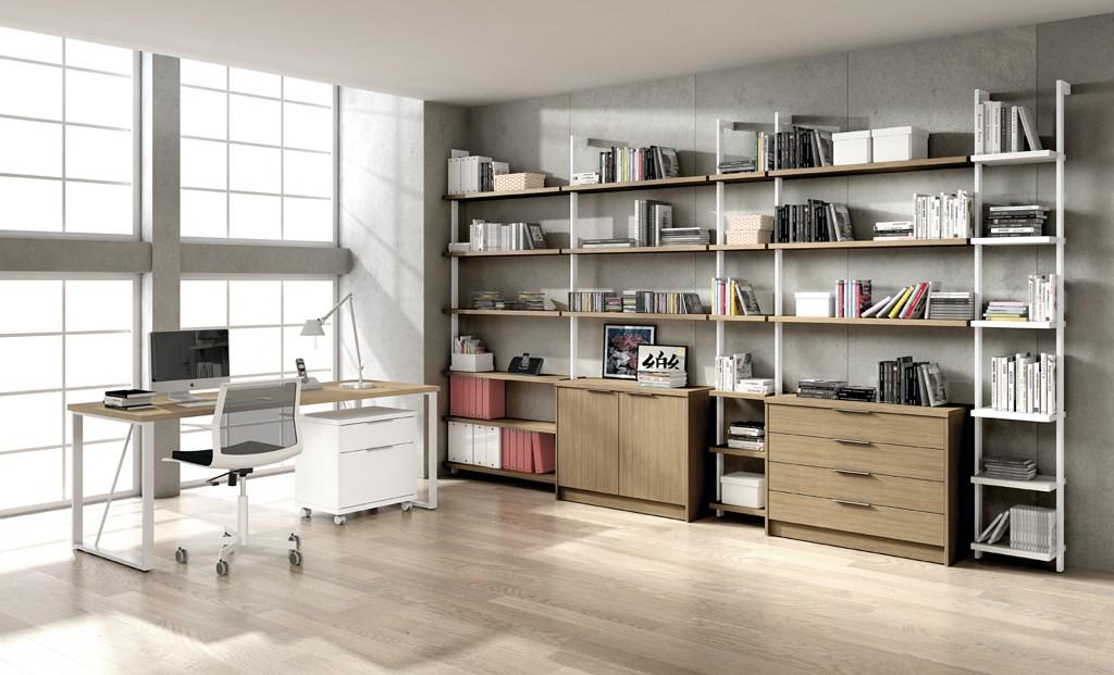 Muebles oficina malaga conjunto de estanteras modernas for Muebles de oficina nuevo laredo