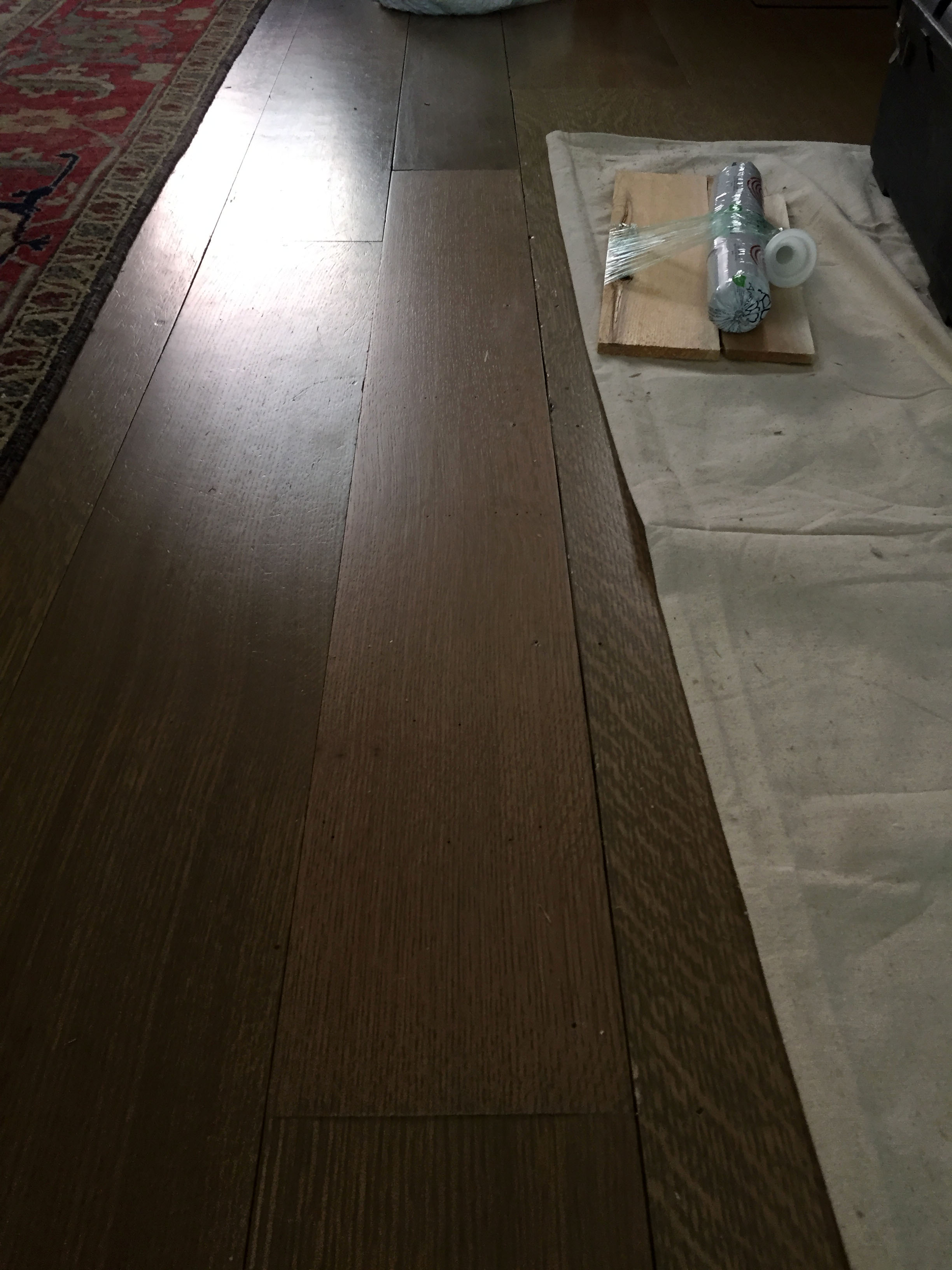 Wood Floor Patch Complete with Polyurethane
