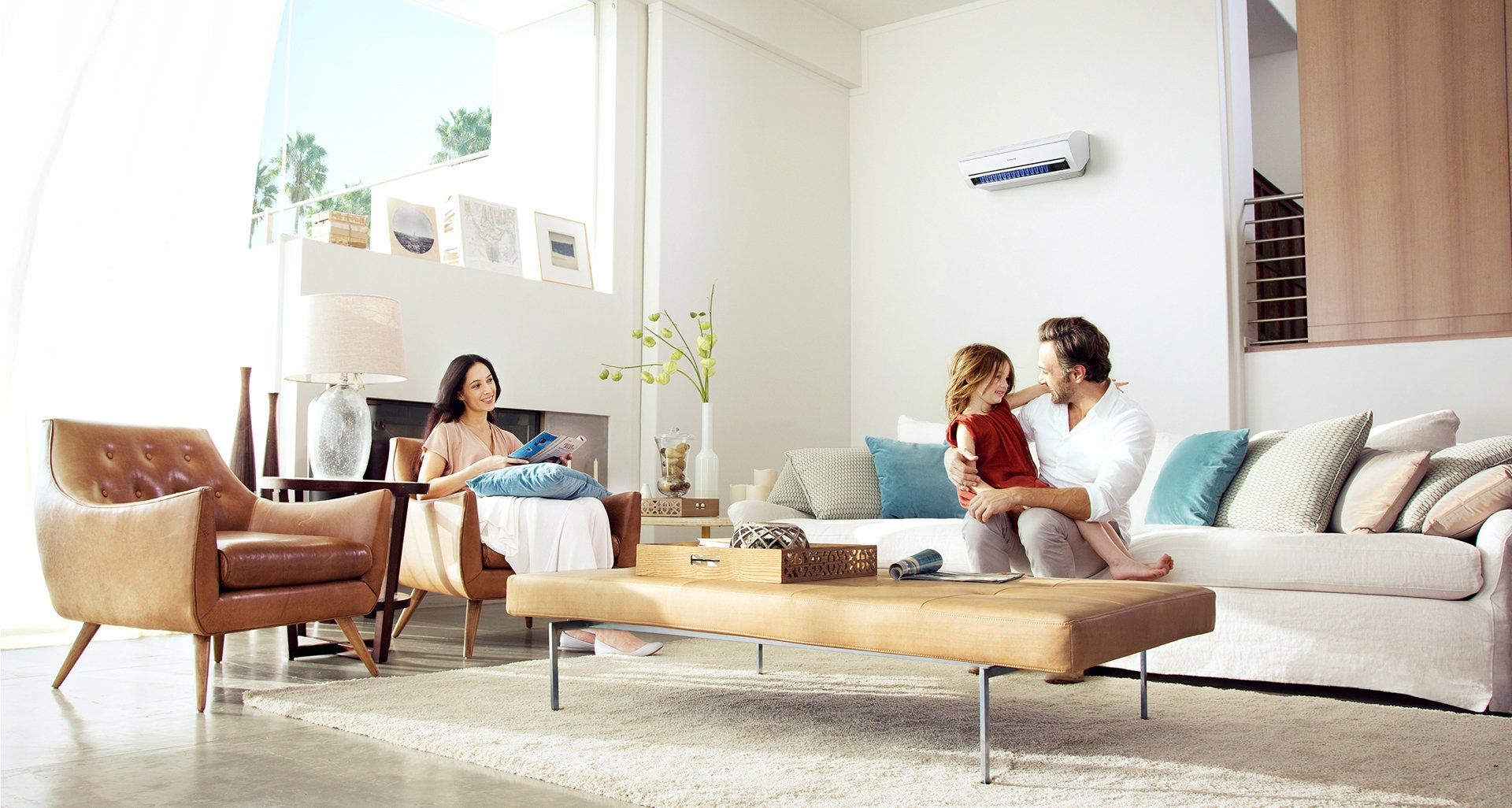 one hour heating and air conditioning lafayette living room ac repair image
