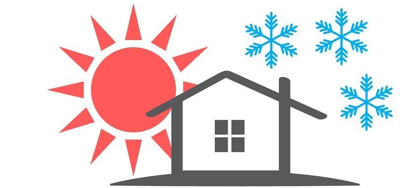 Image of a home in summer and winter
