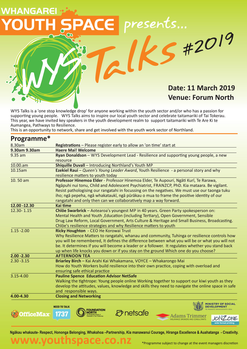 WYS Talks 2019 Programme