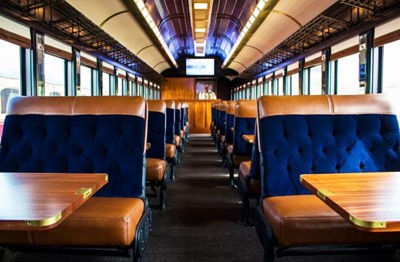 Napa Valley Wine Train Rebrand Train Interior
