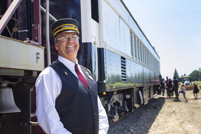 Napa Valley Wine Train Rebrand Train Exterior