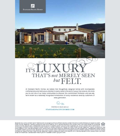Standard Pacific Homes Email Marketing