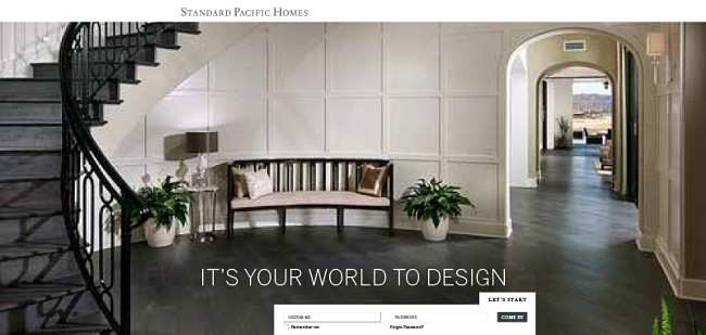 Standard Pacific Homes Design Options Online Tool