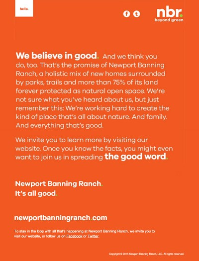 Newport Banning Ranch Email Marketing