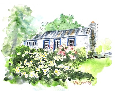 Dudley's Cottage Arrowtown - Watercolour by Tania Jack