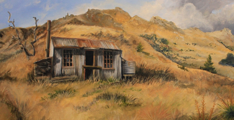 Dynamo Hut Bullendale - Original Acrylic painting by Tania Jack