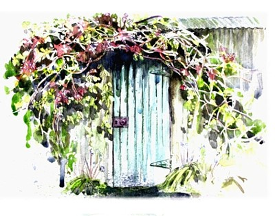 The Garden Shed - Watercolour