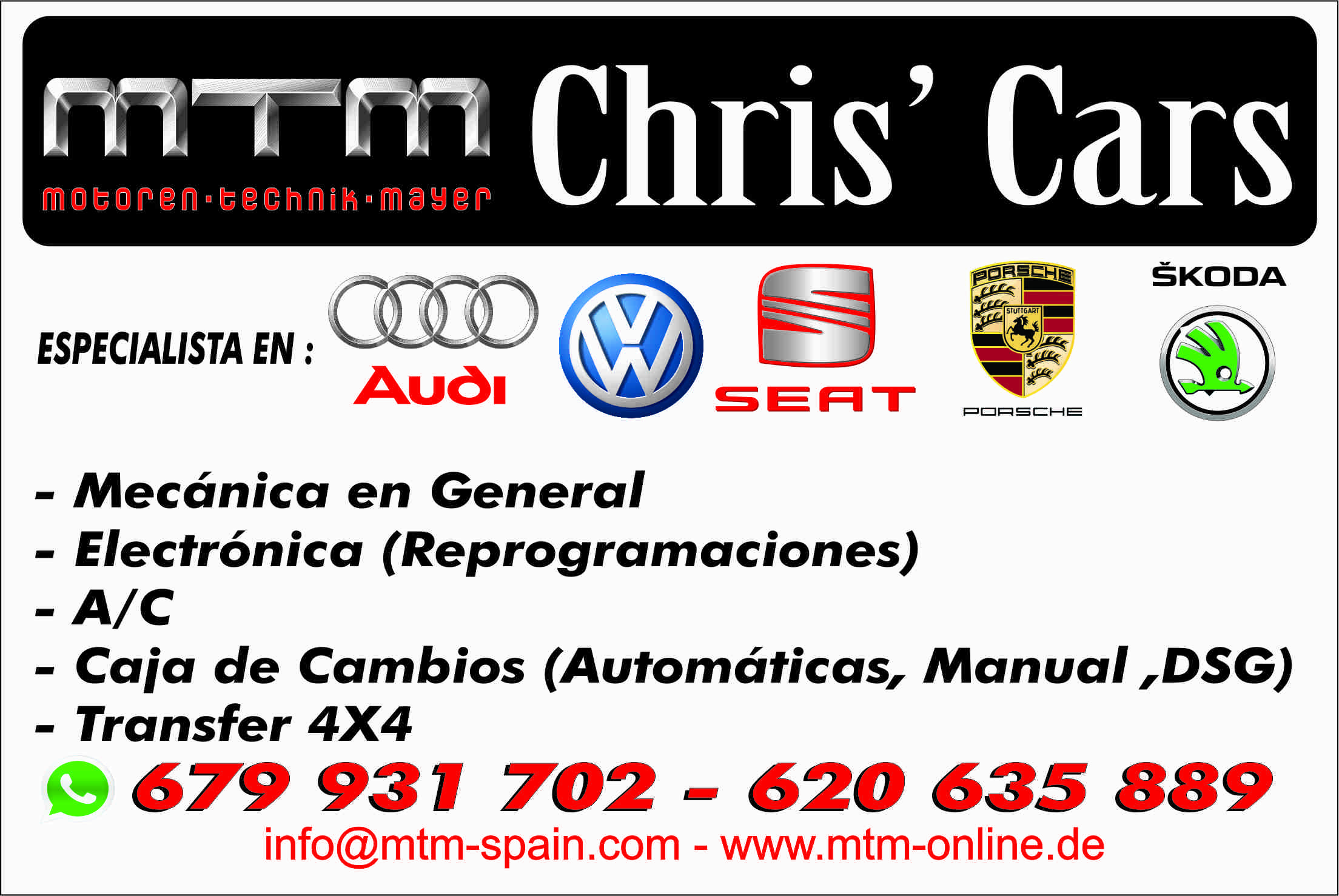 Car Mechanic Automatic Gearbox repair Velez Malaga Torre del Mar