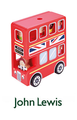 John Lewis Wooden Double  Decker Bus