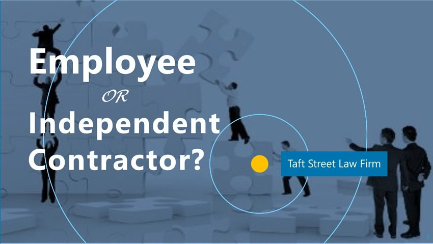 Employee or Independent Contractor | Taft Street Law Firm