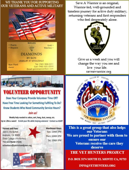Volunteers for Veterans Foundation | Car Show Programs