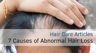 7 Causes of Abnormal Hair Loss