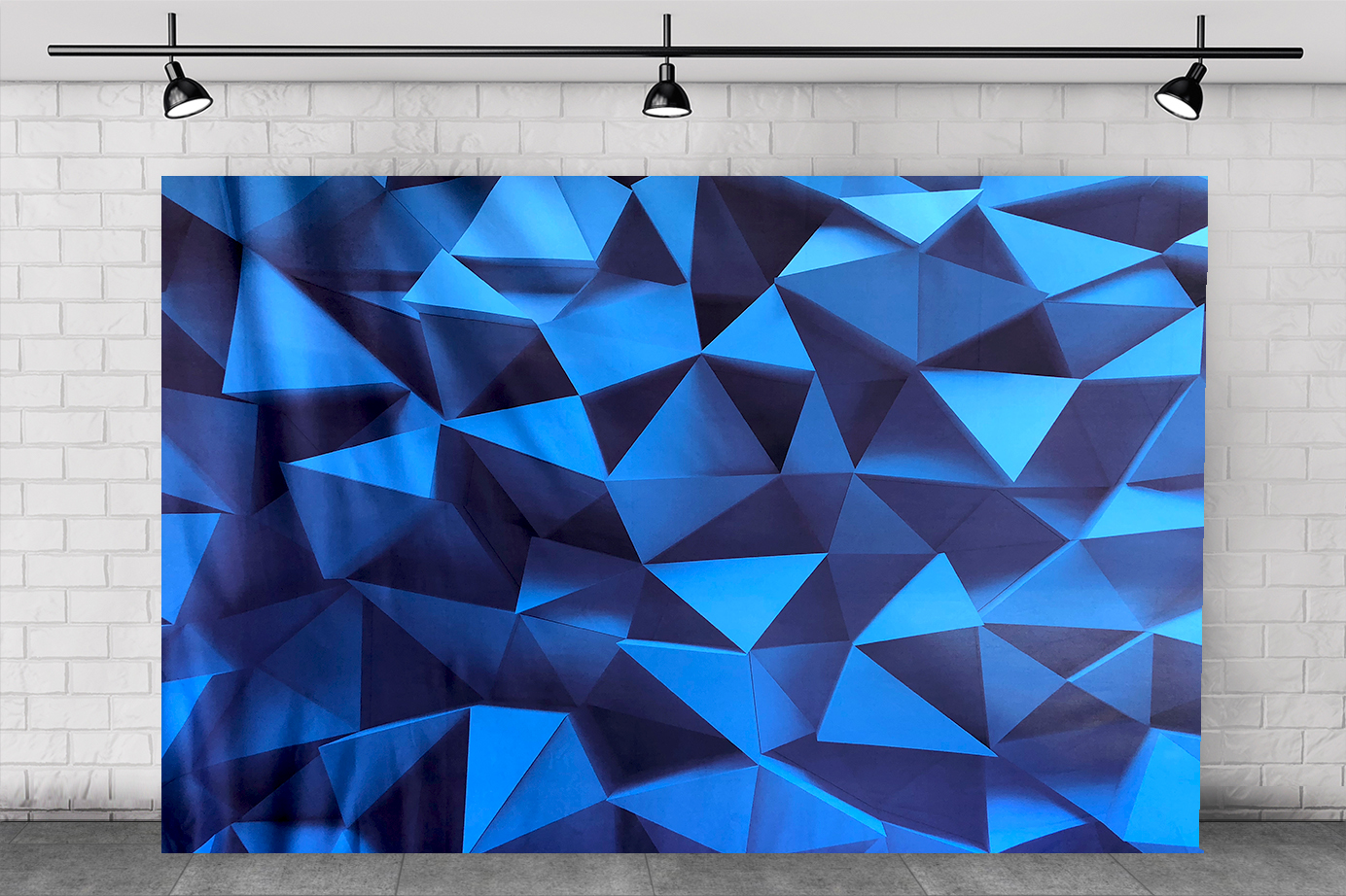 BLUE 3D BACKDROP