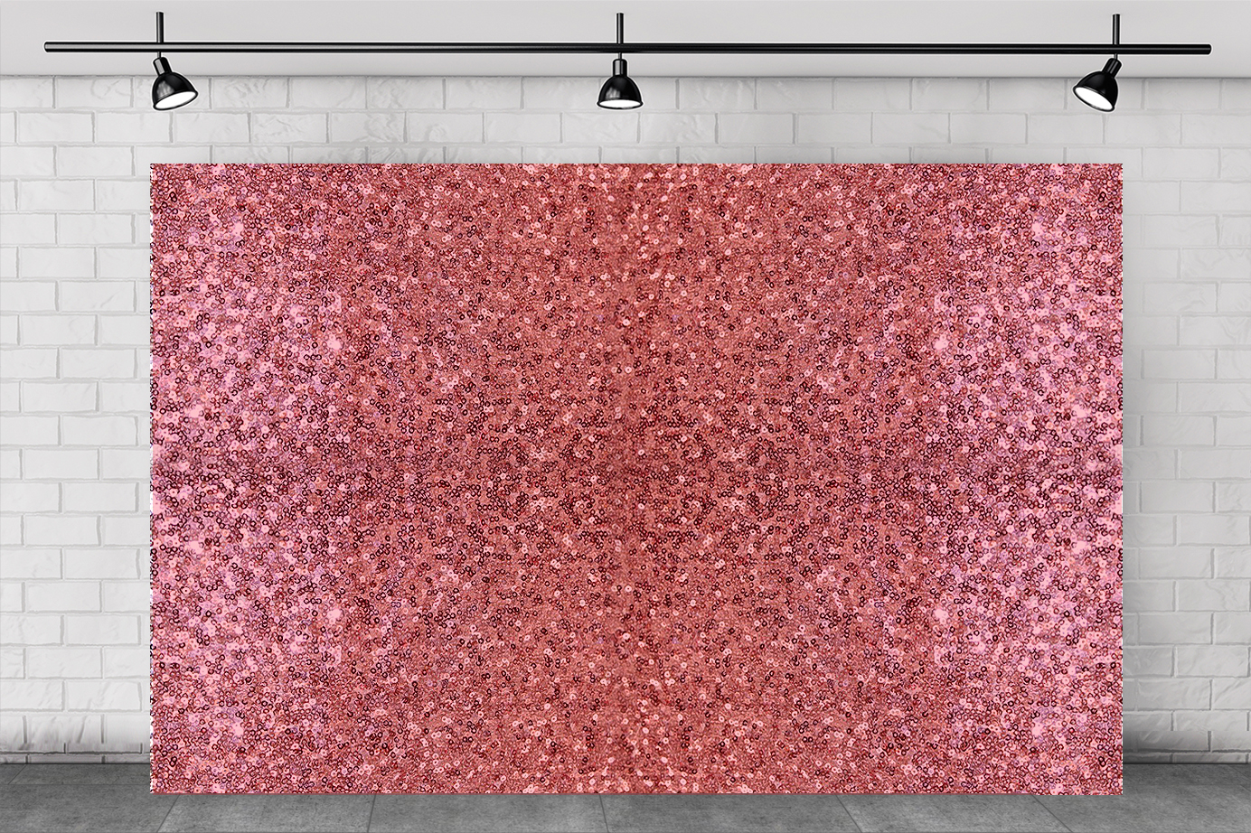 ROSE PINK Sequin BACKDROP