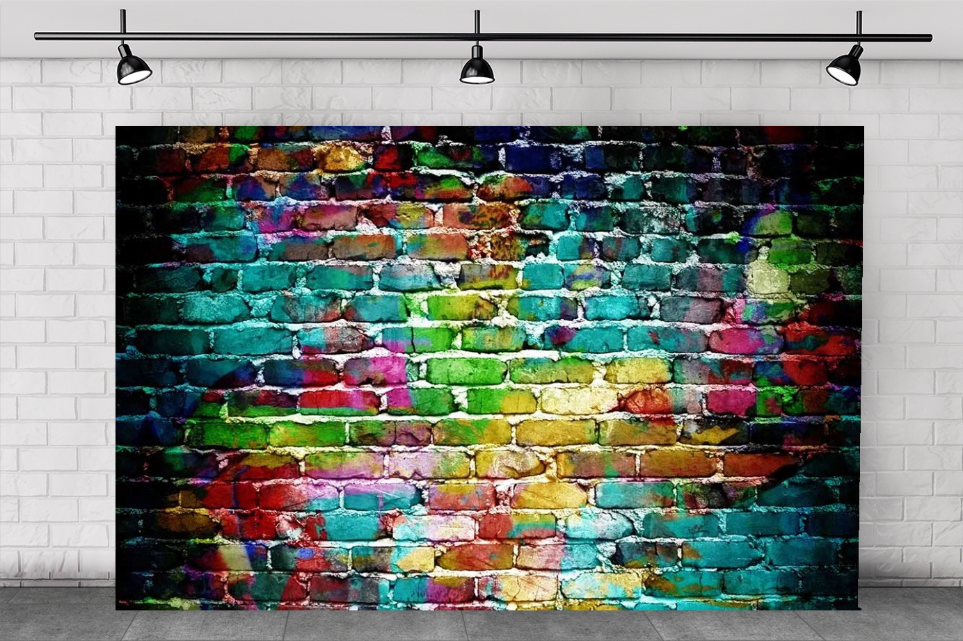 RAINBOW BRICKWALL BACKDROP