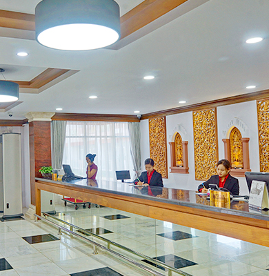 24-hour reception, 3 star hotel in Bagan