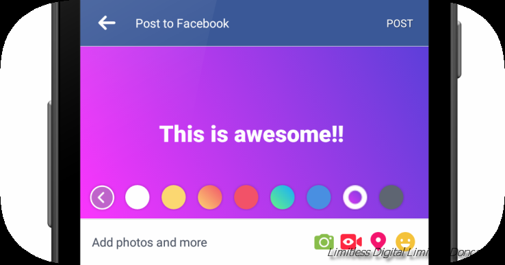 Facebook coloured comments | Social Media experts Doncaster