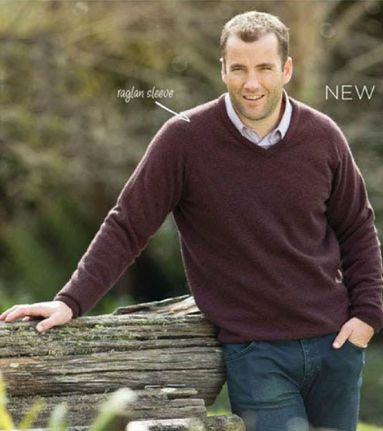 Native World  Mens Marl  V Raglan Jumper