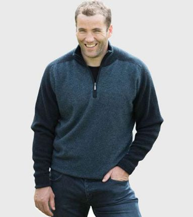 Native World  Mens Marl Half Zip Jumper