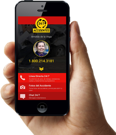 accidentes 24/7 app para accidentes de auto
