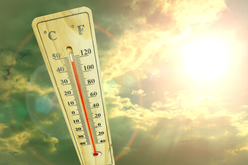 extreme heat hot temperature thermometer sun