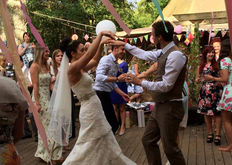 Celebrate your wedding at Yurtcamp Devon