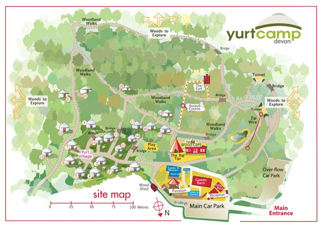 Yurtcamp Map Devon