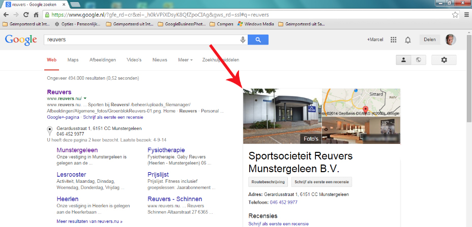 Google virtuele tour in Google zoekresultaten