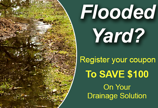 Coupon to save one hundred dollars on your drainage solution