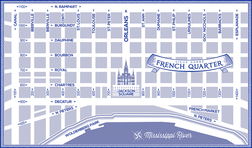 French Quarter Map Passport to the French Quarter | French Quarter Business Association French Quarter Map