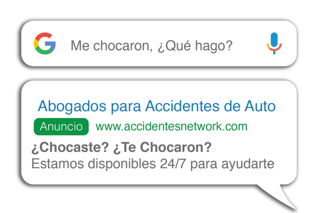 Google ads for law firms in Spanish