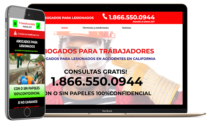 Websites for lawyers in Spanish - LOH Digital