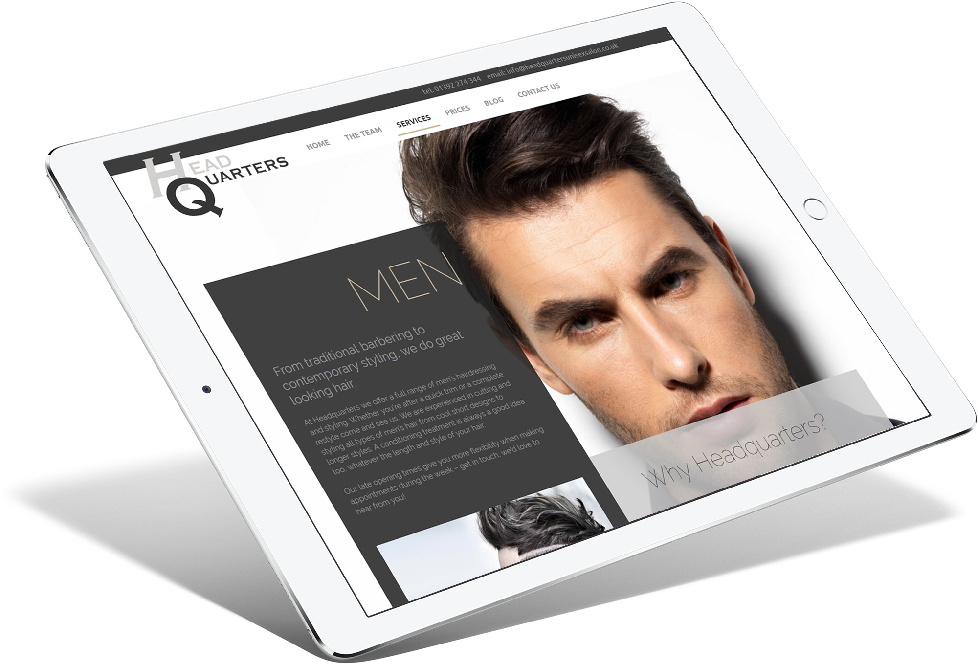 Head Quarters Tablet Responsive