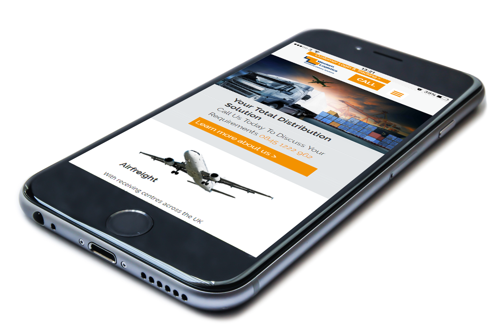 Western Logistic Mobile Responsive