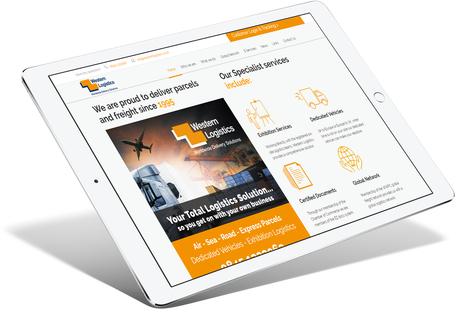 Western Logistic Tablet Responsive