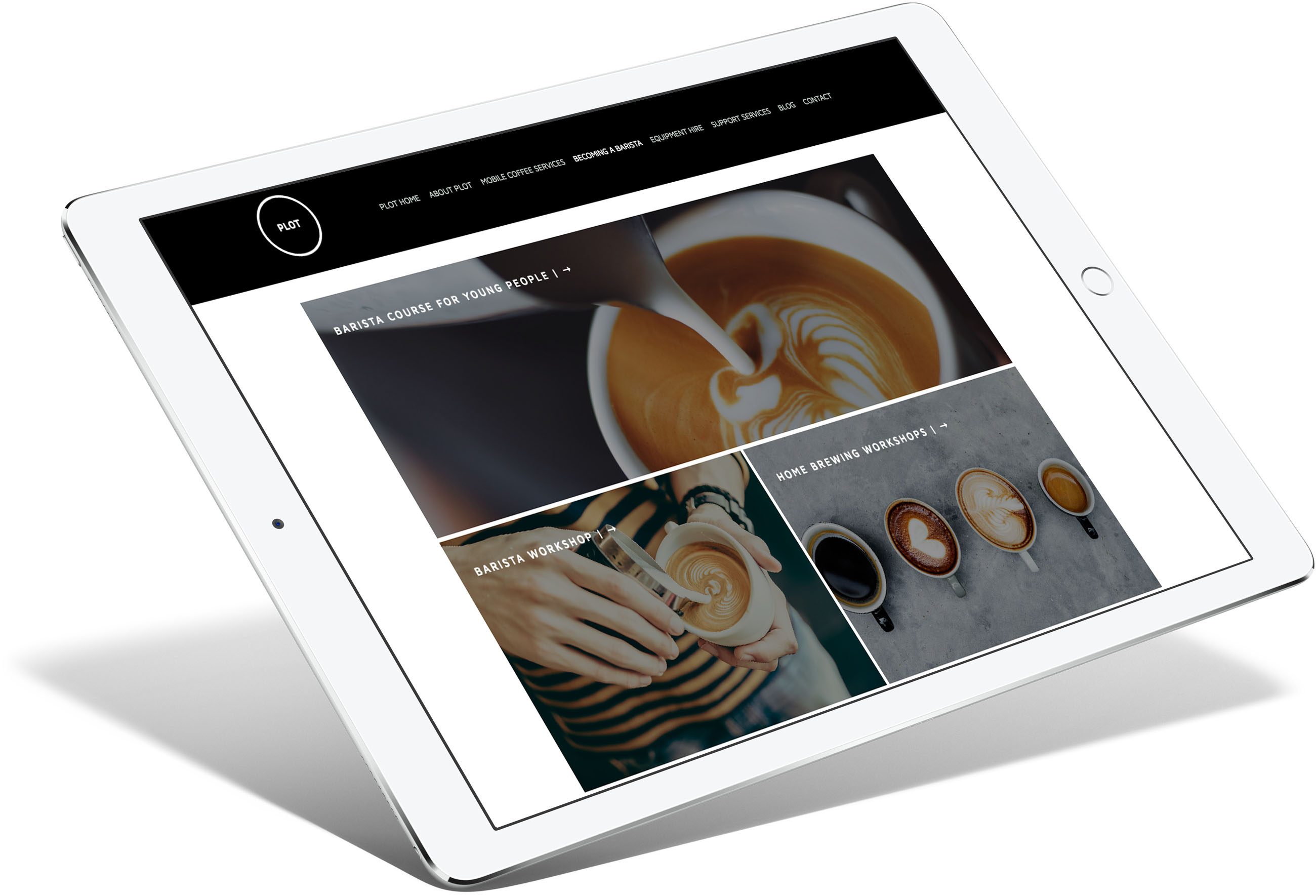 PLOT Coffee Responsive Website