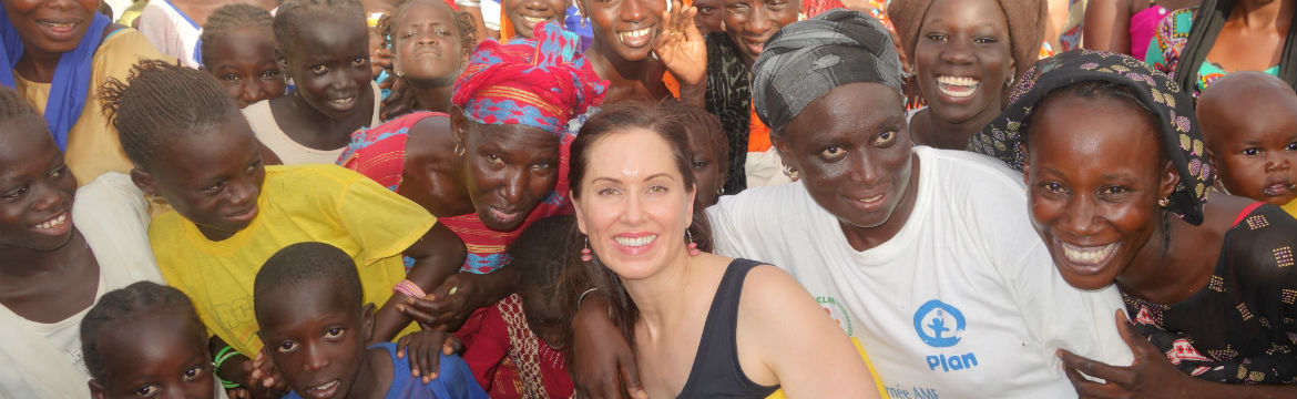 April Jorgensen and other people in the Koki region of Senegal