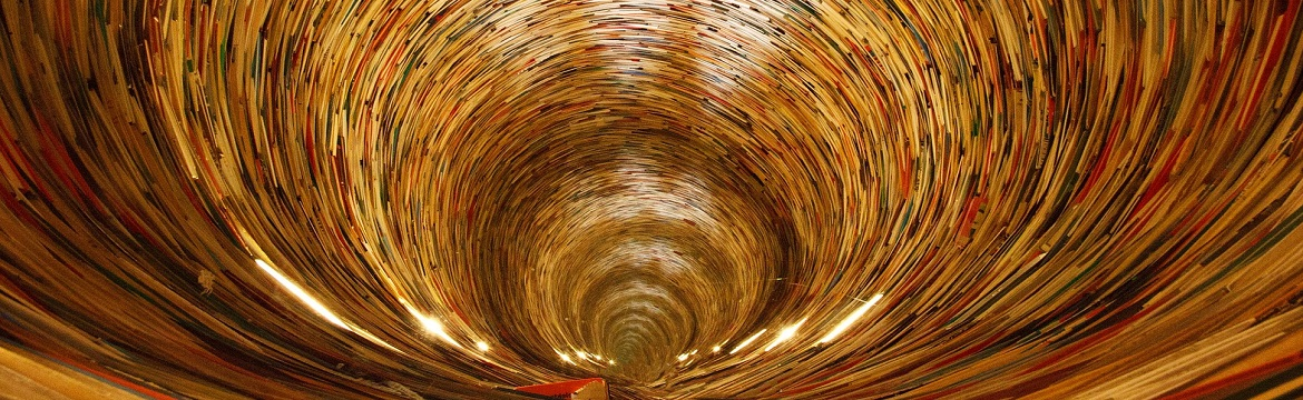 Tunnel of educational books