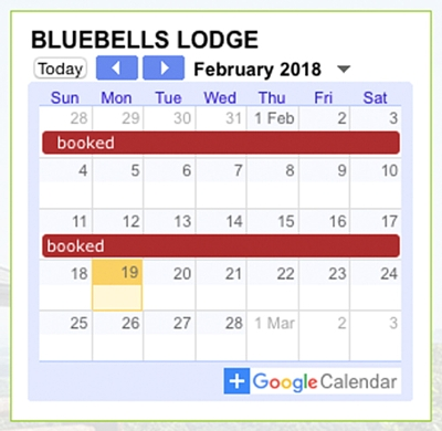 google calendar, booking form, website booking form, accommodation to let booking form, accommodation booking form