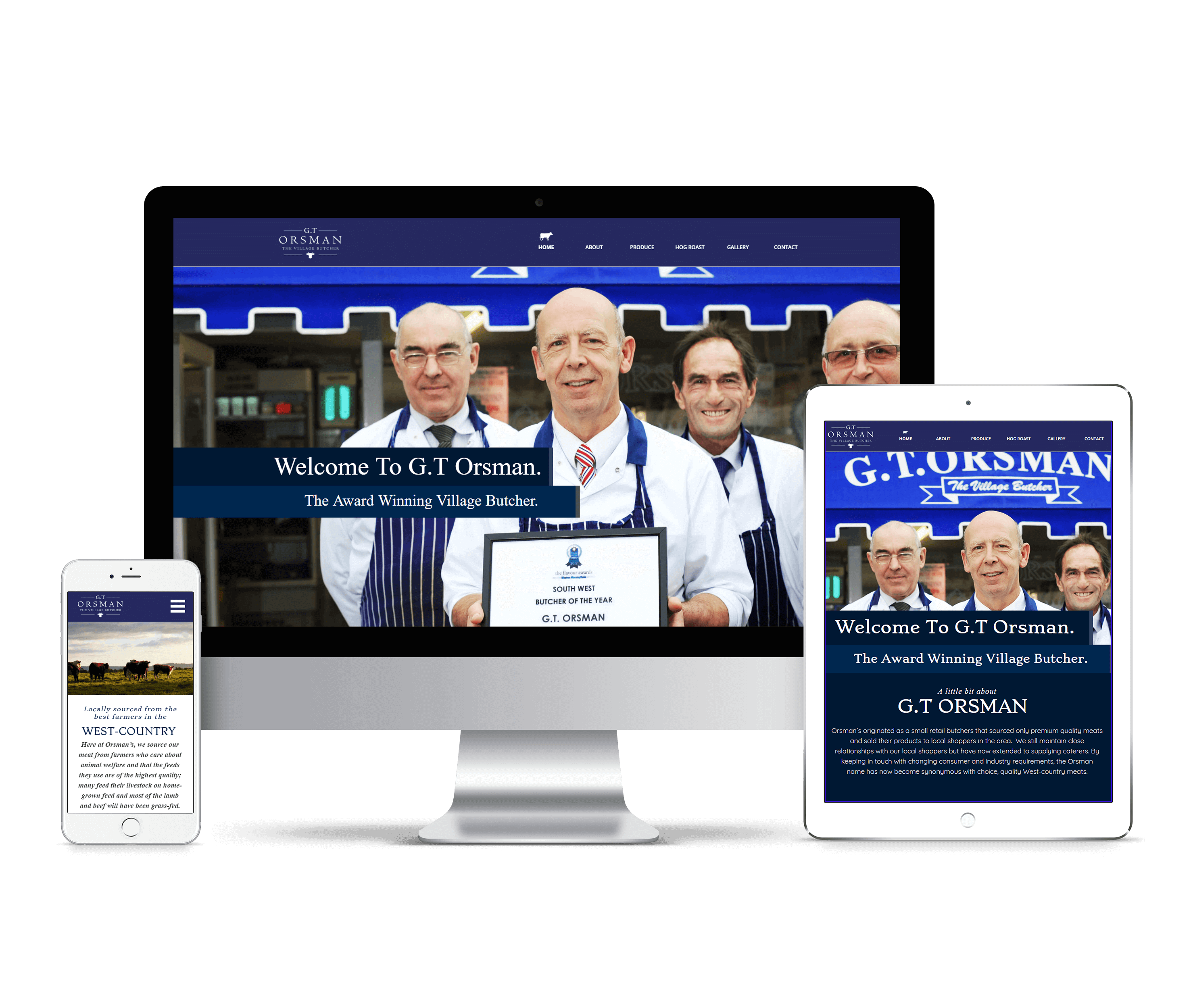 G.T Orsman Responsive Website Design by Bunker Media