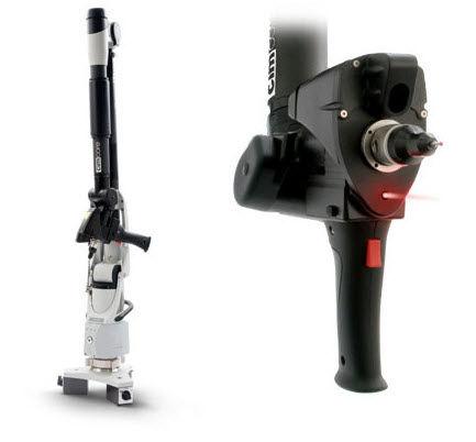 เครื่องมือวัดสามมิติCMM แขนกล portable arm cimcore arm with 3d laser scanner