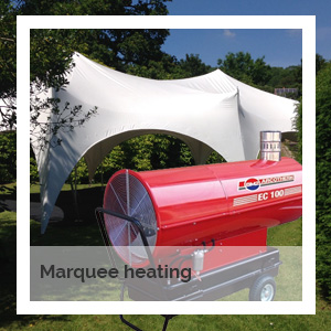 Marquee heating | Godney Marquee Hire