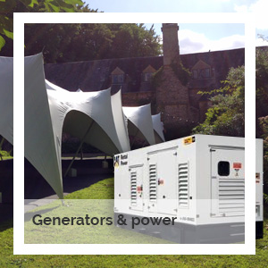Generators and power | Godney Marquee Hire